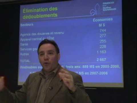 François Legault parle des finances d'un Québec souverain (1 de 2)