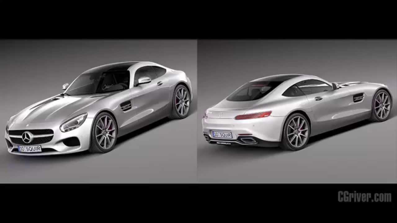 3D Model: Mercedes-Benz AMG GT 2016 - CGriver.com - YouTube