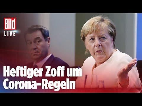 🔴 Corona: Merkel streitet mit Ministerpräsidenten über Beherbergungsverbot | BILD LIVE
