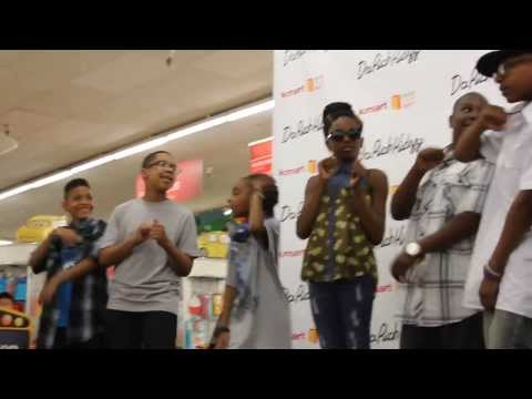COOL! Da Rich Kidzz Live In-store at Kmart in Minneapolis - School Bus My Limo Performance - 8/10/13