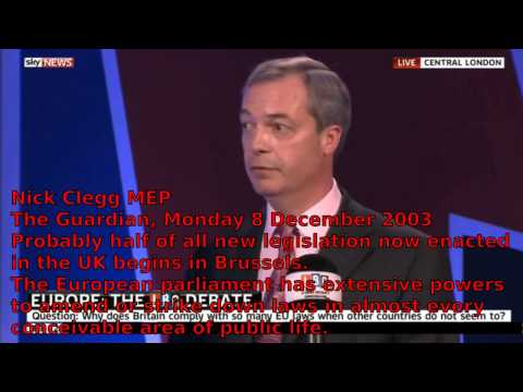The Lies People Tell - Nick Clegg lying to Nigel Farage (UKIP) and to the country.