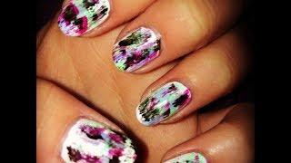 60 Second Nail Tutorial - Distressed Nails