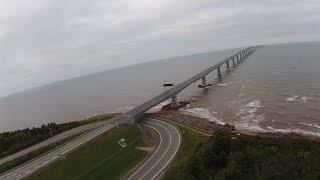 Pei Confederation Bridge And Tourist Centre Aerial View