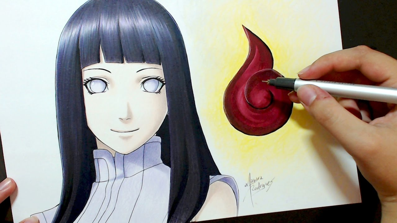 speed drawing hyuga hinata the last naruto the movie