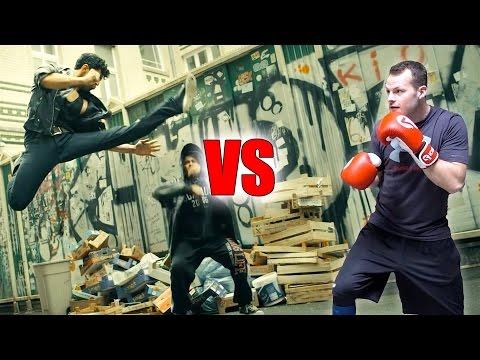 Parkour Athlete vs. Martial Arts Stunts