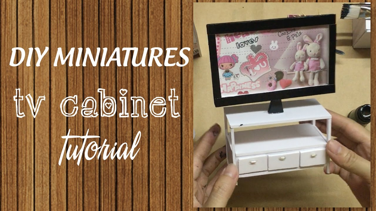 Diy Miniature Tv Cabinet Tutorial How To Make A