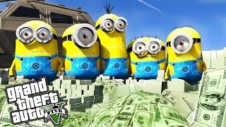 GTA 5 MINIONS BANK HEIST - GTA 5 MINIONS MODS !!!