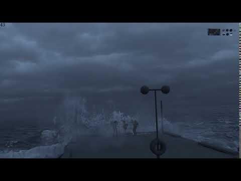 飛沫や泡の調整前の海面/LiNDA HoudiniBros.