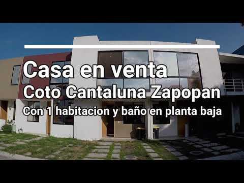 Casa En Venta Cantaluna Zapopan Con 1 Habitacion Y Baño En PB