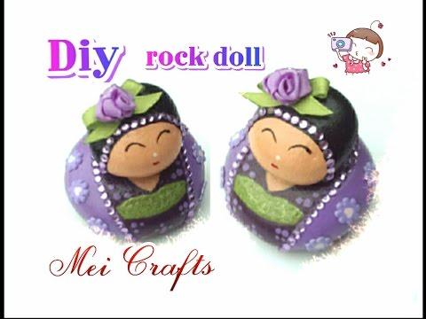 Diy: rock doll/paperweight