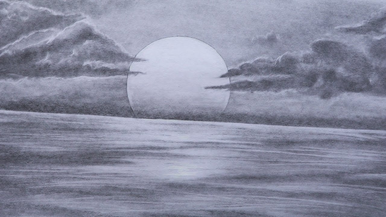 Pencil Sketch Sunset