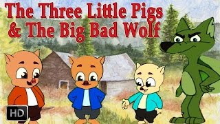 The Three Little Pigs and Big Bad Wolf | HD Animated Fairy Tales for Children | Full Story thumbnail