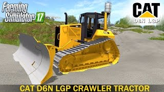 farming simulator 17 cat d6n lgp crawler tractor