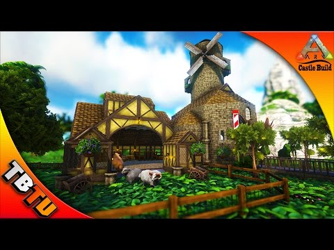 OVIS FARM AND WINDMILL! - Castle, Keeps and Forts Medieval Architecture - Ark Survival Evolved