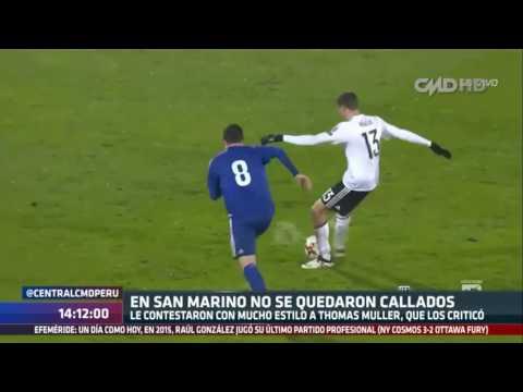 Central CMD: San Marino responde a las polémicas declaraciones de Thomas Müller