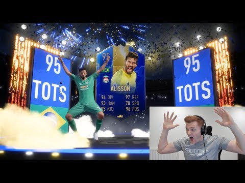 INSANE BPL TOTS PACK OPENING ON FIFA 19!!! 10+ TOTS PACKED!