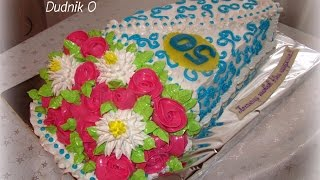 Торты БУКЕТЫ ЦВЕТОВ Мои работы Кремовые торты Bouquets of flowers Cakes