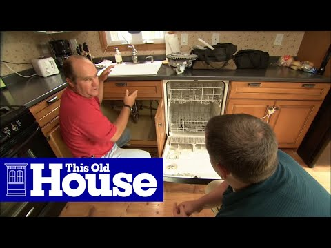 How to replace a smelly dishwasher drain hose this old for Whole house plumbing trap