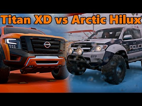 Forza Horizon 3 Hot Wheels | ARCTIC HILUX vs TITAN CUMMINS!