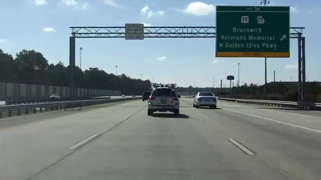 Interstate 95 - Georgia (Exits 49 to 38) southbound - YouTube
