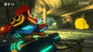 Wii U - Mario Kart 8 - Thwomp Ruins (mi primer Highlight Reel)