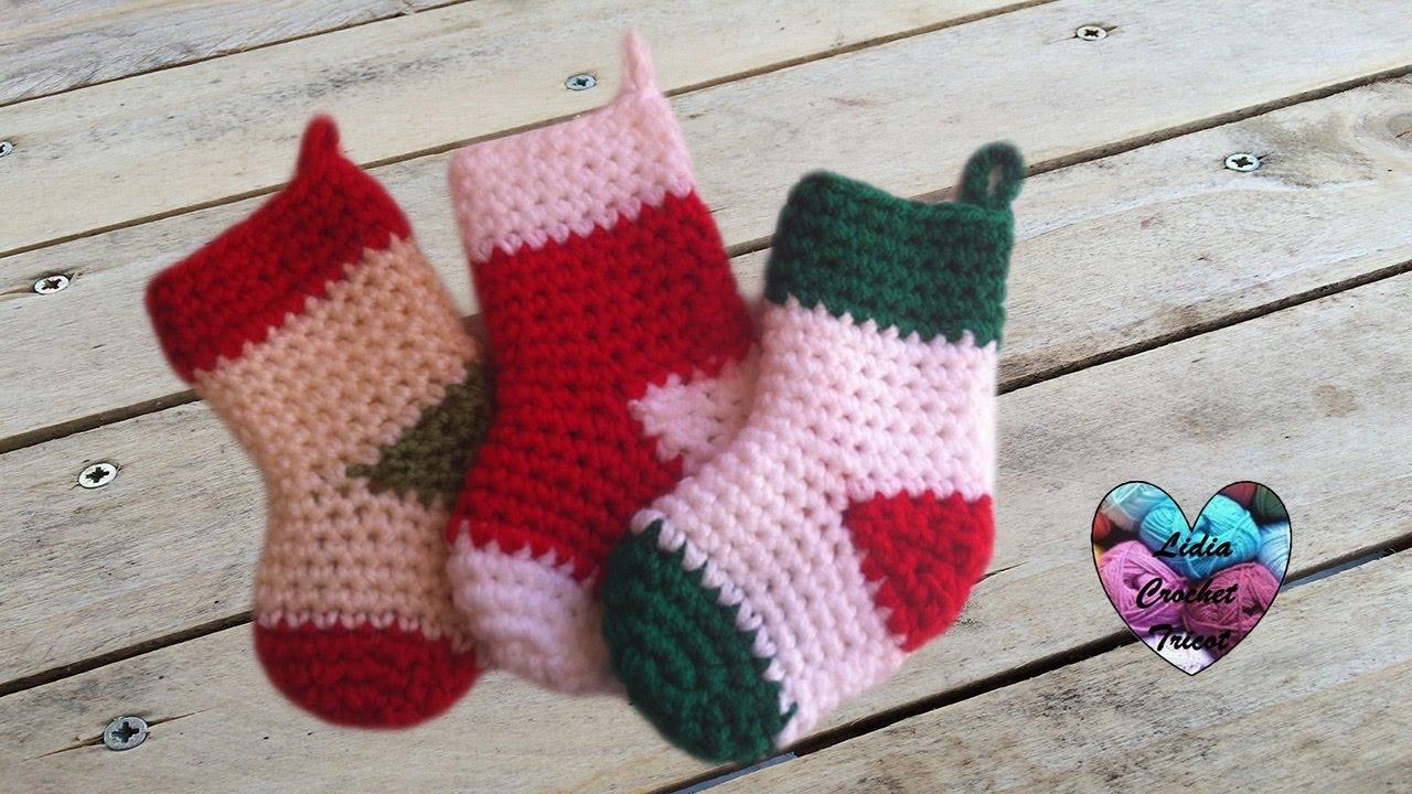 Chaussettes de no l crochet christmas boots crochet easy youtube - Chaussettes de noel ...