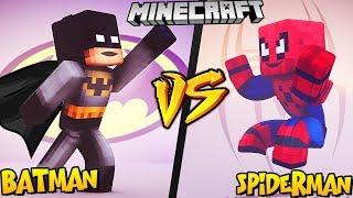 BATMAN VS SPIDERMAN - MINECRAFT | Vito vs Bella