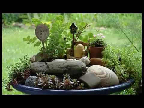 Fairy garden craft miniature ideas - YouTube