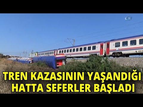 Tekirdağ'da Tren Faciasının Yaşandığı Rayda Yolcu Seferleri Başladı