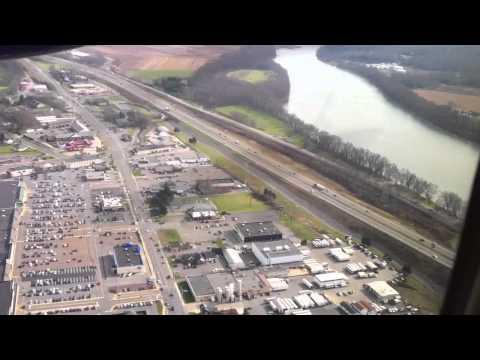 Flying into Williamsport Pennsylvania.