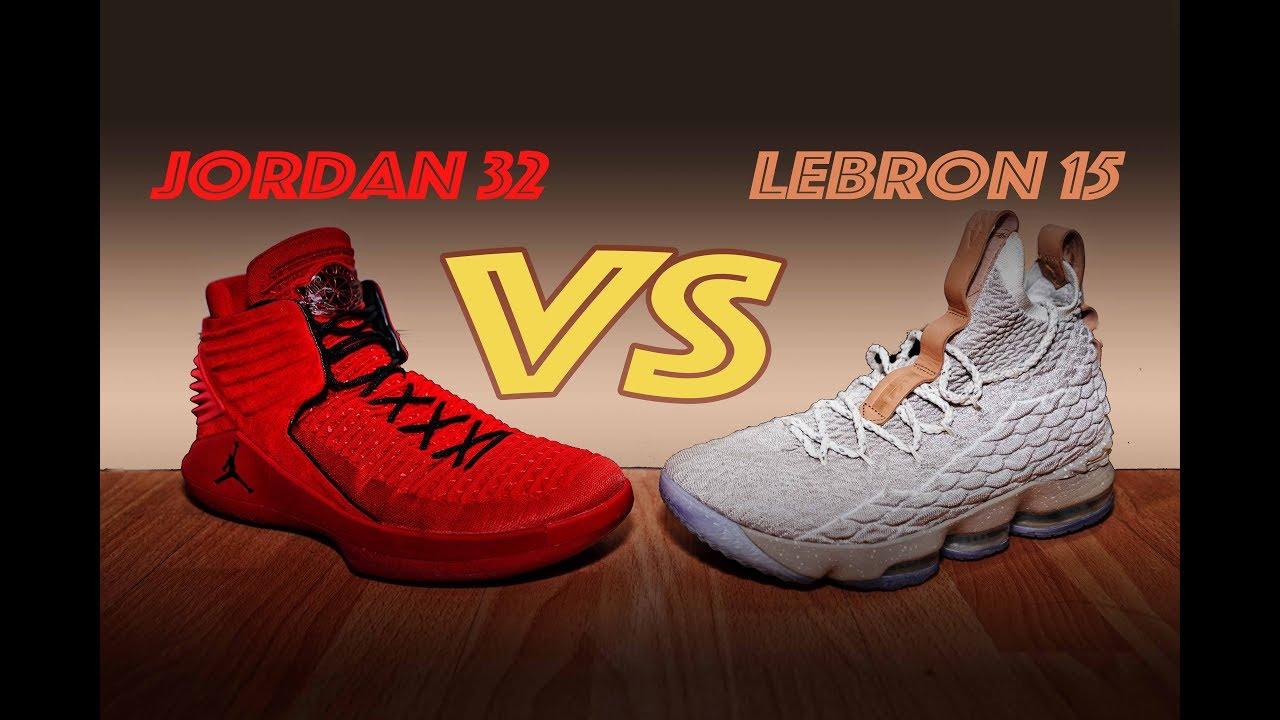 BETTER PERFORMER?? JORDAN 32 vs LEBRON