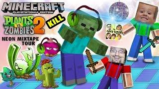 Minecraft Zombie Kill Challenge before PVZ 2 Neon Mixtape Tour (FGTEEV SLEEPY TIME FUN w/ Chase) PS4
