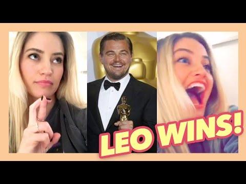 Leonardo DiCaprio Oscar reaction! | iJustine