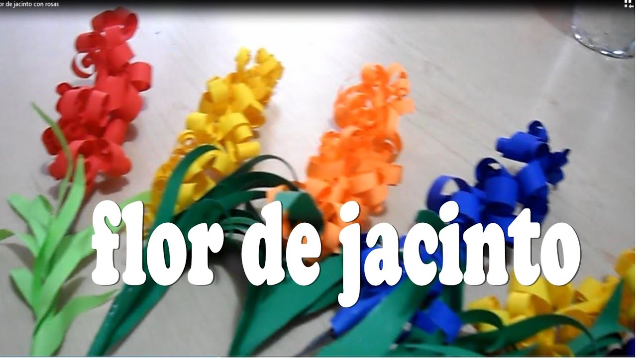 Flores de papel jacinto decoracion para el hogar youtube for Decoracion con papel