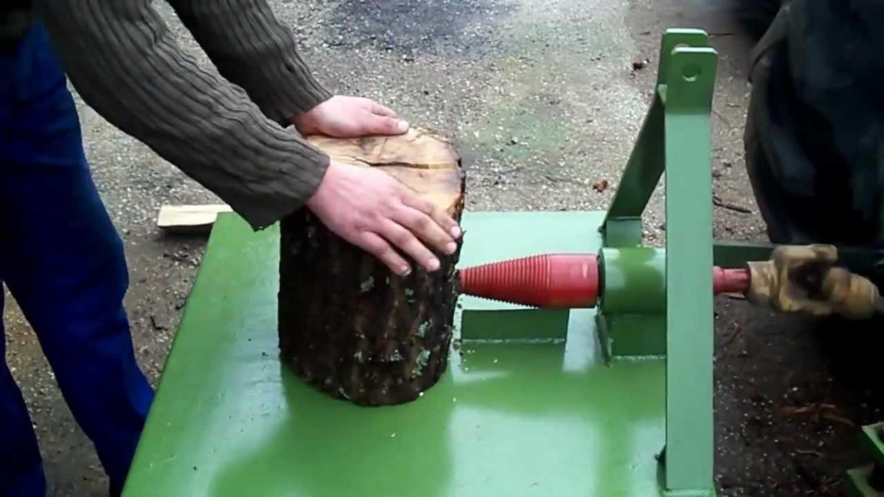 Винтовой колун. дровокол своими руками/ Screw for wood splitter .