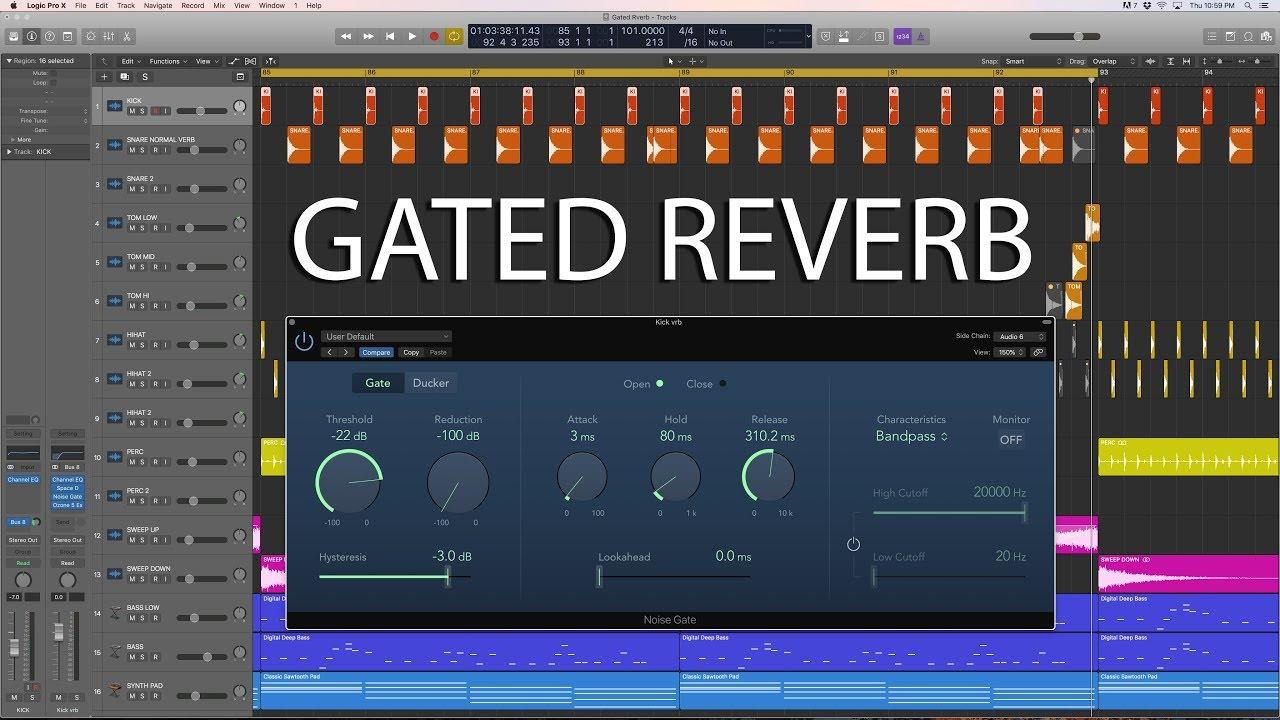 Logic Pro X Tutorial Gated Reverb