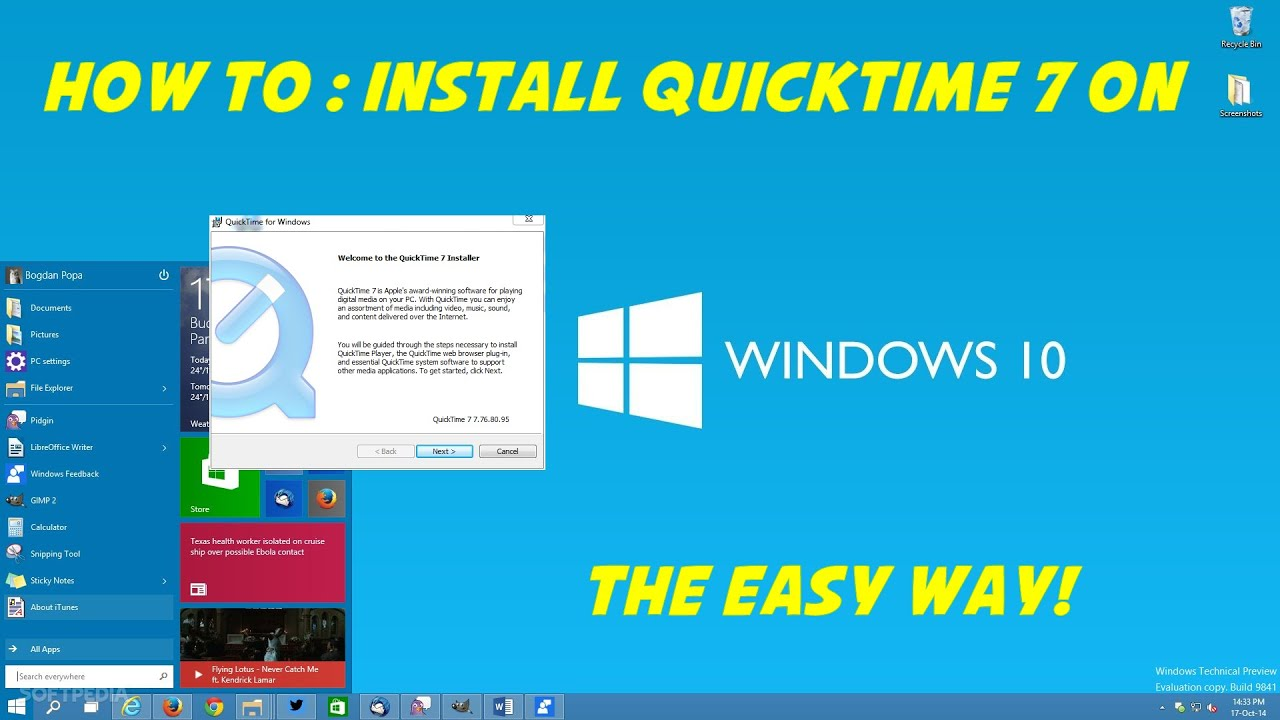How to install Quicktime 7 on Windows 10 the easy way! - YouTube