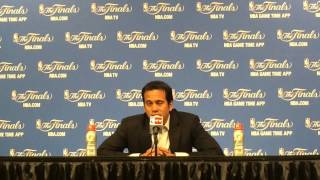 Miami Heat head coach Erik Spoelstra talks about the Game 5 loss to the San Antonio Spurs