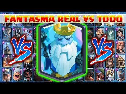 Fantasma Real VS TODAS las cartas (Terrestres) | 1 VS 1 |Clash Royale