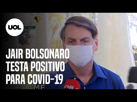 BOLSONARO ESTÁ COM COVID-19; PRESIDENTE CONFIRMOU QUE TESTOU POSITIVO PARA O NOVO CORONAVÍRUS