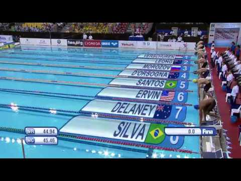 Men's 100m freestyle final FINA Swimming World Cup 2013 Singapore