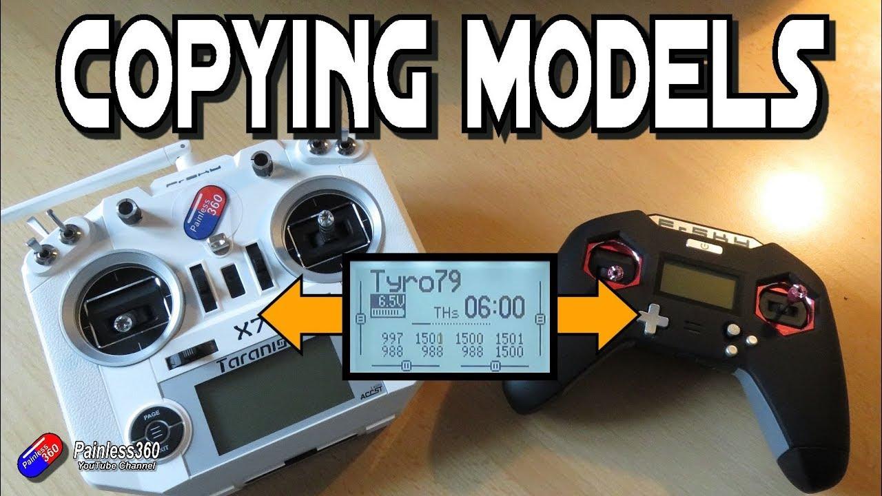 Copying models between radios with OpenTX