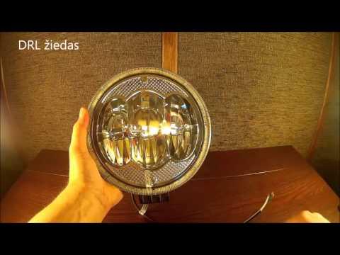 LED žibintas su CREE ir E-mark homologacija 2960