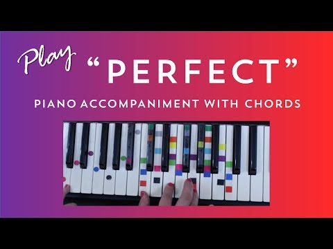 How to Play Sing Perfect - Ed Sheeran   Easy Piano Chord Lesson   IVOREEZ