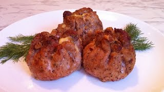 Мясные Мешочки с Сыром и Грибами / Мешочки из Мяса / Праздничный Рецепт (Очень Вкусно и Просто)