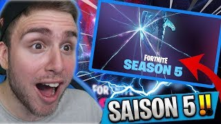 🔴 LE *PASSE DE COMBAT SAISON 5 * EST ARRIVÉ SUR FORTNITE ! GAME ( PS4 ,XBOX ,PC SWITCH ,IOS).