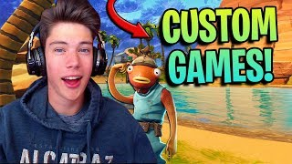 FORTNITE CUSTOM GAMES!!! Family Friendly Fun!!!
