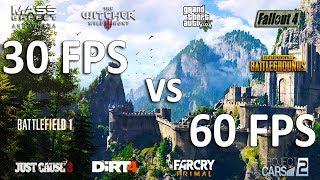 30 FPS vs 60 FPS Test in 10 Games