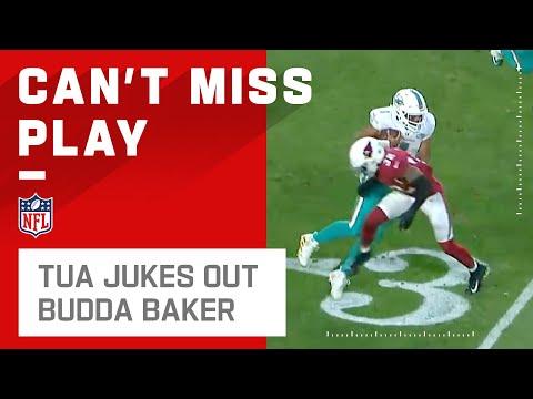 [Highlight] Tua Tagovailoa jukes Budda Baker into another dimension.
