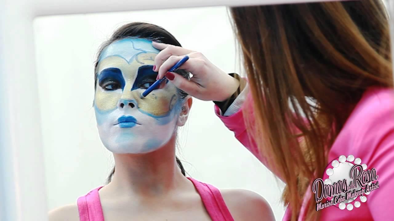 Tutorial maquillaje carnaval mascara venenciana youtube - Mascaras venecianas decoracion ...